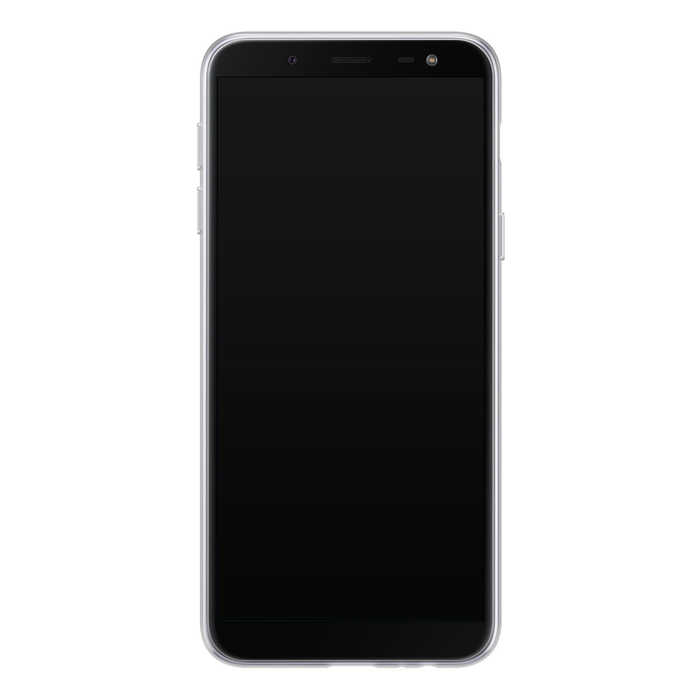 Leuke Telefoonhoesjes Samsung Galaxy J6 2018 siliconen hoesje - Luipaard flower print