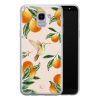 ELLECHIQ Samsung Galaxy J6 2018 siliconen hoesje - Tropical Lemonade