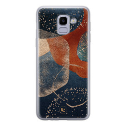 ELLECHIQ Samsung Galaxy J6 2018 siliconen hoesje - Abstract Terracotta