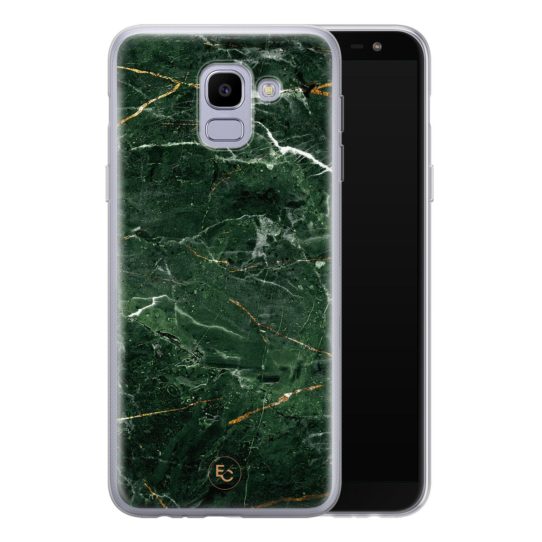 ELLECHIQ Samsung Galaxy J6 2018 siliconen hoesje - Marble jade green