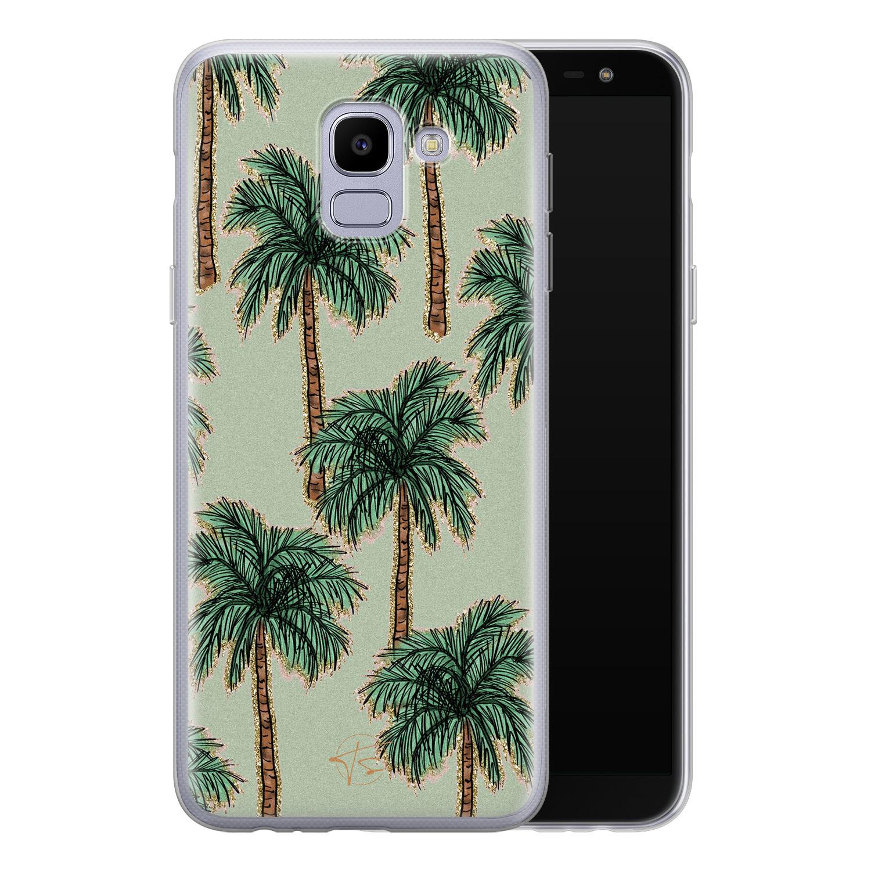 Telefoonhoesje Store Samsung Galaxy J6 2018 siliconen hoesje - Palmbomen
