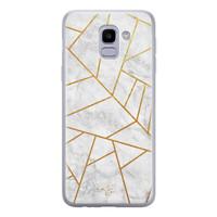 Telefoonhoesje Store Samsung Galaxy J6 2018 siliconen hoesje - Geometrisch marmer