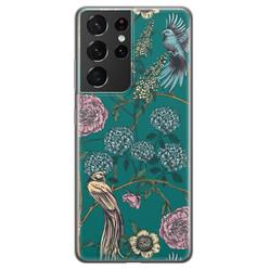 Telefoonhoesje Store Samsung Galaxy S21 Ultra siliconen hoesje - Bloomy birds