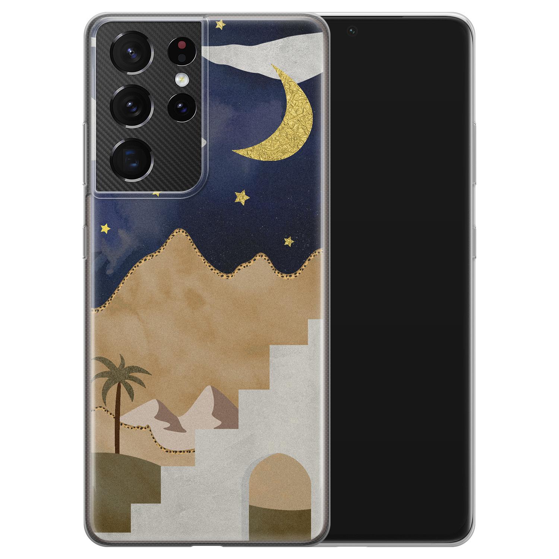 Leuke Telefoonhoesjes Samsung Galaxy S21 Ultra siliconen hoesje - Desert night