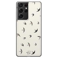 Telefoonhoesje Store Samsung Galaxy S21 Ultra siliconen hoesje - Freedom birds