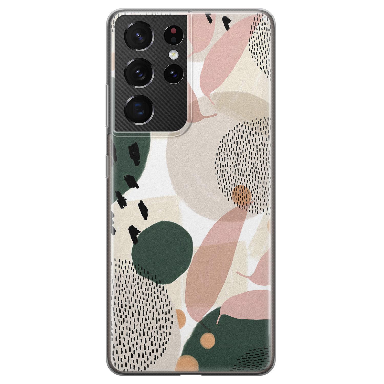 Leuke Telefoonhoesjes Samsung Galaxy S21 Ultra siliconen hoesje - Abstract print