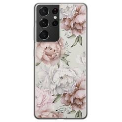 Telefoonhoesje Store Samsung Galaxy S21 Ultra siliconen hoesje - Classy flowers