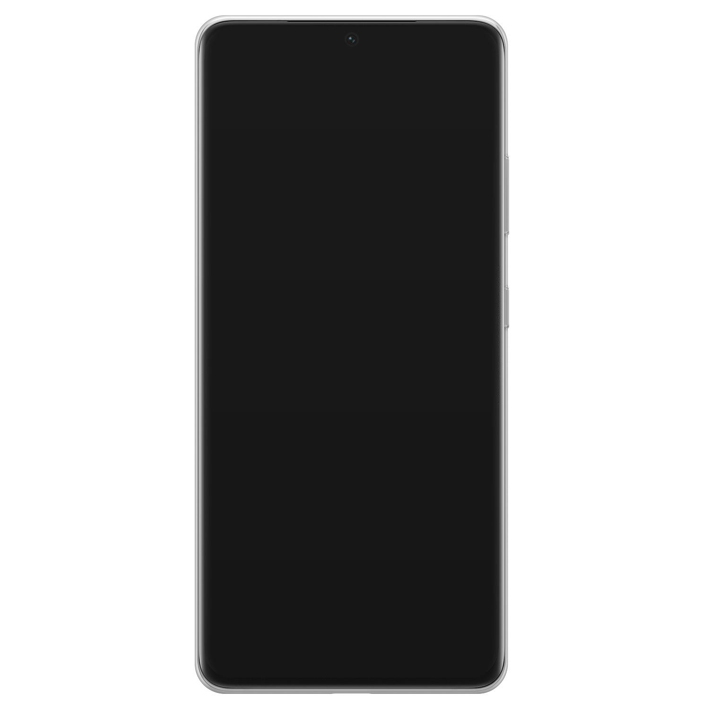 Leuke Telefoonhoesjes Samsung Galaxy S21 Ultra siliconen hoesje - Abstract gezicht lijnen