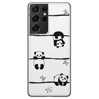 Telefoonhoesje Store Samsung Galaxy S21 Ultra siliconen hoesje - Panda