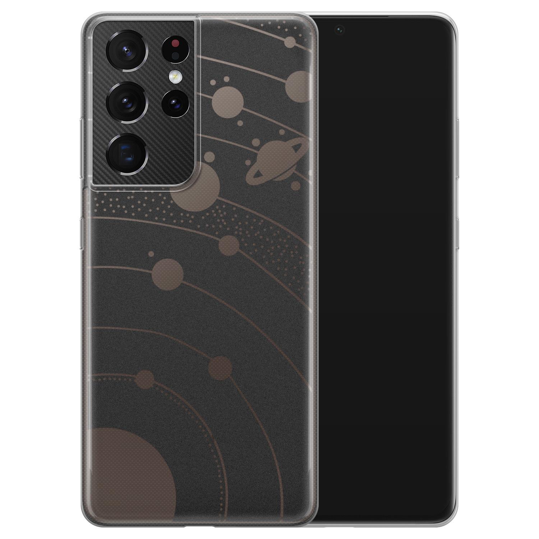 Telefoonhoesje Store Samsung Galaxy S21 Ultra siliconen hoesje - Universe space