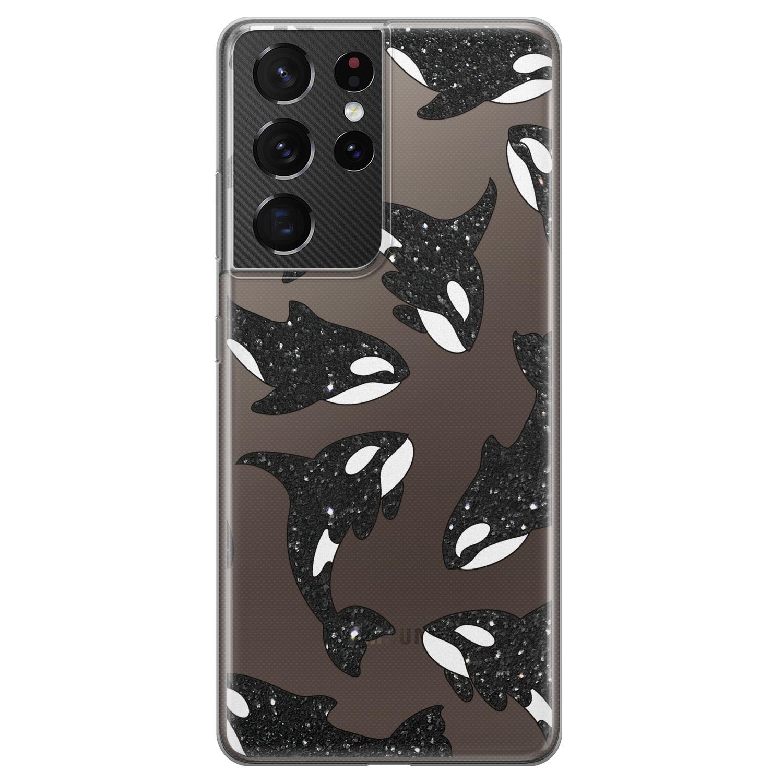 Telefoonhoesje Store Samsung Galaxy S21 Ultra siliconen hoesje - Orka