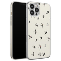 Telefoonhoesje Store iPhone 12 Pro Max siliconen hoesje - Freedom birds