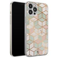 ELLECHIQ iPhone 12 Pro Max siliconen hoesje - Pastel Kubus