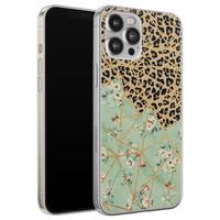 Leuke Telefoonhoesjes iPhone 12 Pro Max siliconen hoesje - Leo Flower