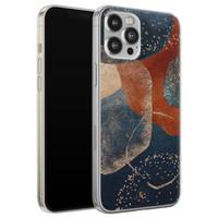 ELLECHIQ iPhone 12 Pro Max siliconen hoesje - Abstract Terracotta