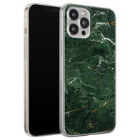 ELLECHIQ iPhone 12 Pro Max siliconen hoesje - Marble jade green