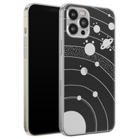 Telefoonhoesje Store iPhone 12 Pro Max siliconen hoesje - Universe space