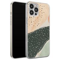 Telefoonhoesje Store iPhone 12 Pro Max siliconen hoesje - Abstract peach