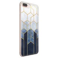 Telefoonhoesje Store iPhone 8 Plus/7 Plus siliconen hoesje - Geometrisch fade art