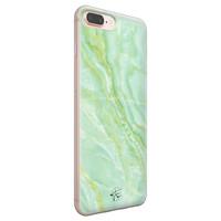 Telefoonhoesje Store iPhone 8 Plus/7 Plus siliconen hoesje - Marmer Limegroen