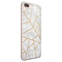 Telefoonhoesje Store iPhone 8 Plus/7 Plus siliconen hoesje - Geometrisch marmer