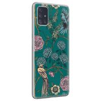 Telefoonhoesje Store Samsung Galaxy A51 siliconen hoesje - Bloomy birds