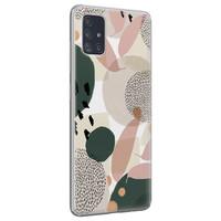 Leuke Telefoonhoesjes Samsung Galaxy A51 siliconen hoesje - Abstract print