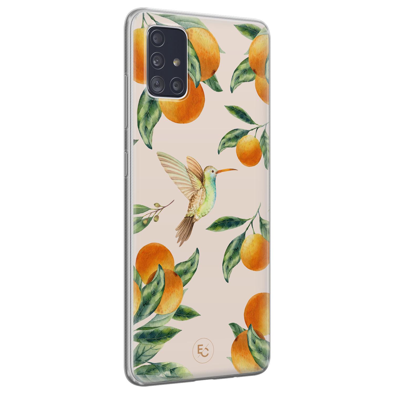 ELLECHIQ Samsung Galaxy A51 siliconen hoesje - Tropical Lemonade