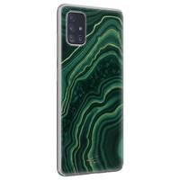 Telefoonhoesje Store Samsung Galaxy A51 siliconen hoesje - Agate groen