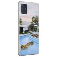 ELLECHIQ Samsung Galaxy A71 siliconen hoesje - Tiger pool