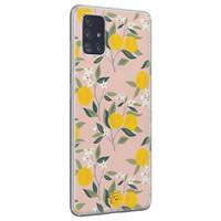 Telefoonhoesje Store Samsung Galaxy A71 siliconen hoesje - Citroenen