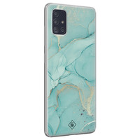 Casimoda Samsung Galaxy A71 siliconen hoesje - Touch of mint