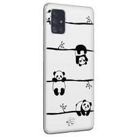 Telefoonhoesje Store Samsung Galaxy A71 siliconen hoesje - Panda