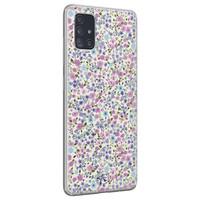 Telefoonhoesje Store Samsung Galaxy A71 siliconen hoesje - Purple Garden