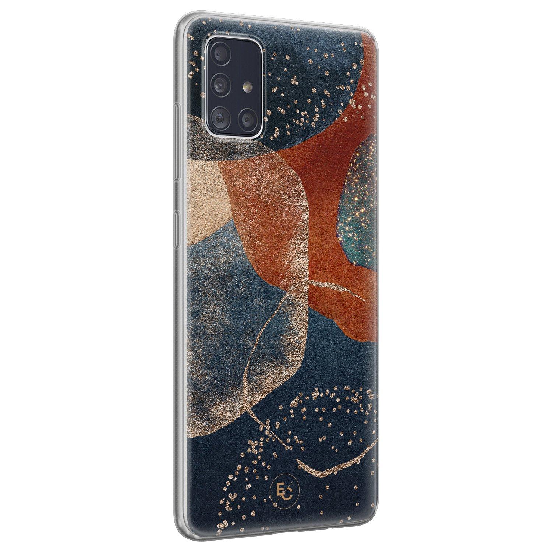 ELLECHIQ Samsung Galaxy A71 siliconen hoesje - Abstract Terracotta
