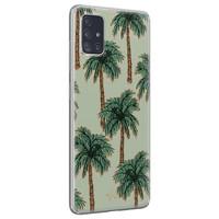 Telefoonhoesje Store Samsung Galaxy A71 siliconen hoesje - Palmbomen