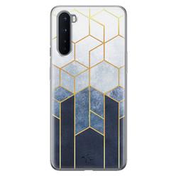 Telefoonhoesje Store OnePlus Nord siliconen hoesje - Geometrisch fade art