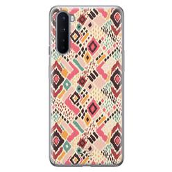 Telefoonhoesje Store OnePlus Nord siliconen hoesje - Boho vibes