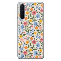 Telefoonhoesje Store OnePlus Nord siliconen hoesje - Romantische bloemen