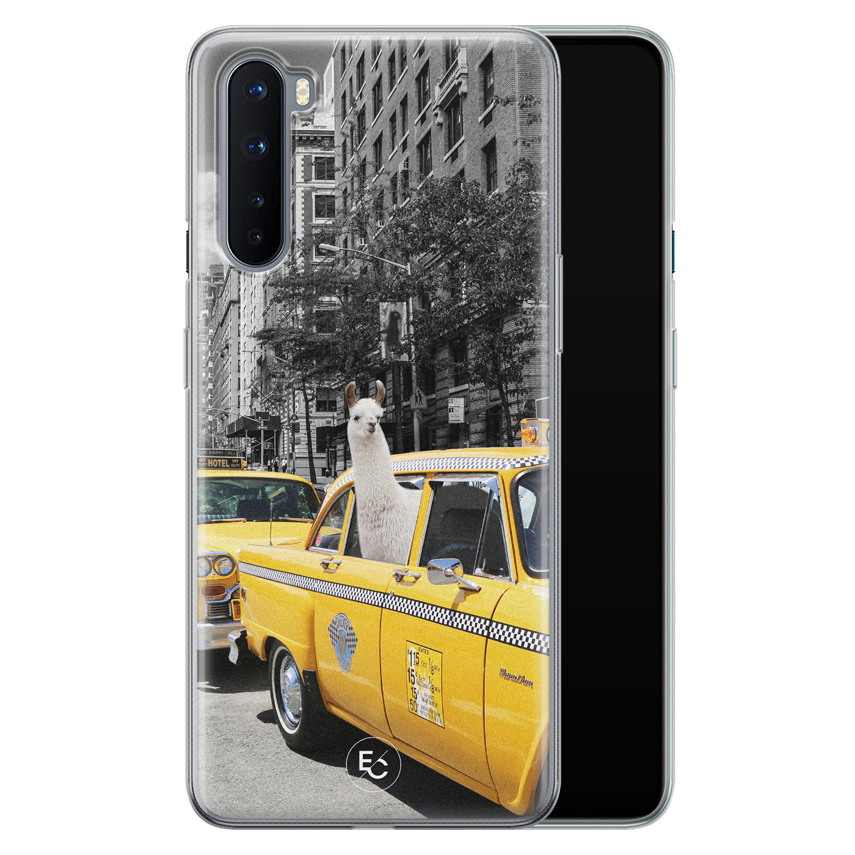 ELLECHIQ OnePlus Nord siliconen hoesje - Lama in taxi