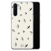 Telefoonhoesje Store OnePlus Nord siliconen hoesje - Freedom birds