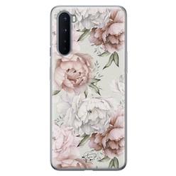 Telefoonhoesje Store OnePlus Nord siliconen hoesje - Classy flowers
