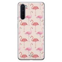 Telefoonhoesje Store OnePlus Nord siliconen hoesje - Flamingo