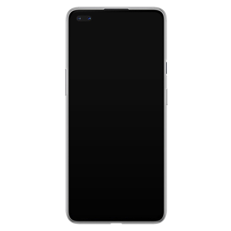 Leuke Telefoonhoesjes OnePlus Nord siliconen hoesje - Luipaard flower print