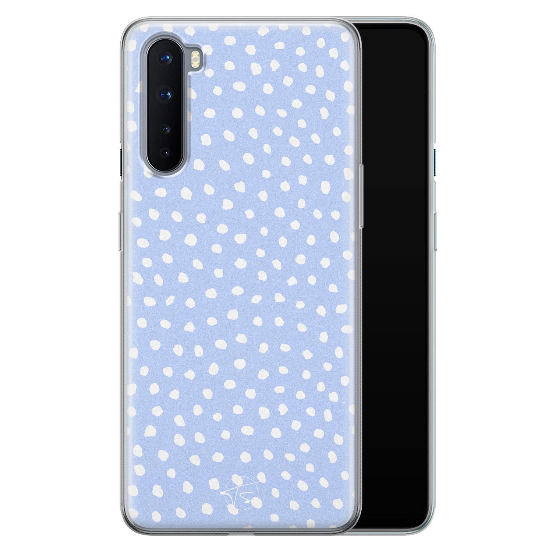 Telefoonhoesje Store OnePlus Nord siliconen hoesje - Purple dots