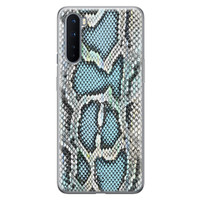 ELLECHIQ OnePlus Nord siliconen hoesje - Baby Snake blue