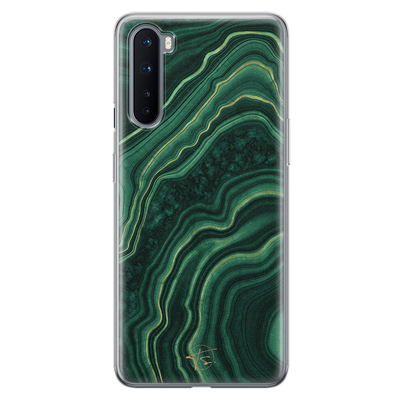 Telefoonhoesje Store OnePlus Nord siliconen hoesje - Agate groen
