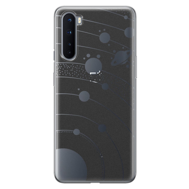 Telefoonhoesje Store OnePlus Nord siliconen hoesje - Universe space