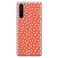Telefoonhoesje Store OnePlus Nord siliconen hoesje - Orange dots