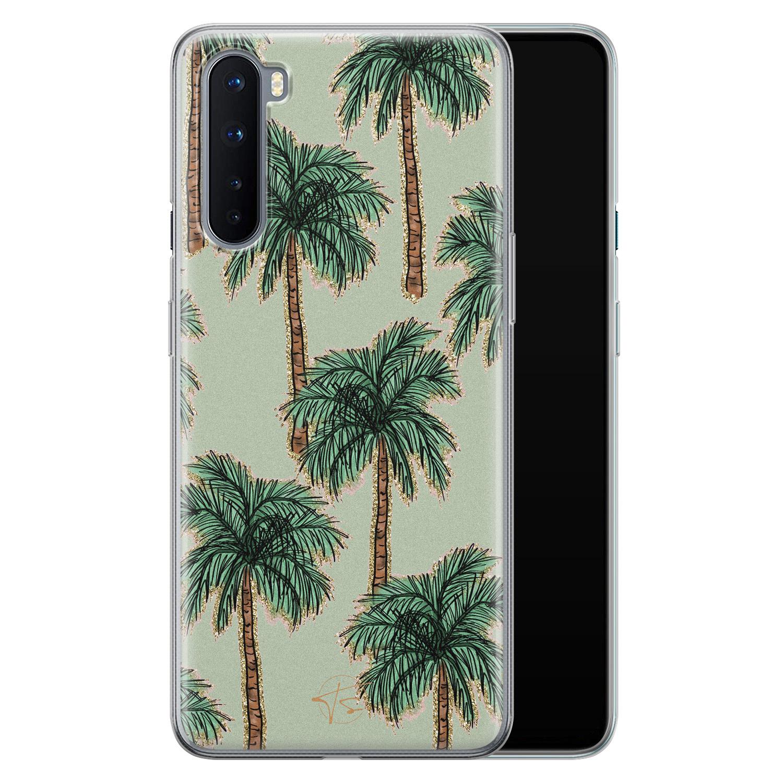 Telefoonhoesje Store OnePlus Nord siliconen hoesje - Palmbomen